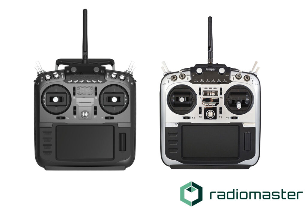 RadioMaster TX16S (Left) vs Jumper T16 pro v2 (right)