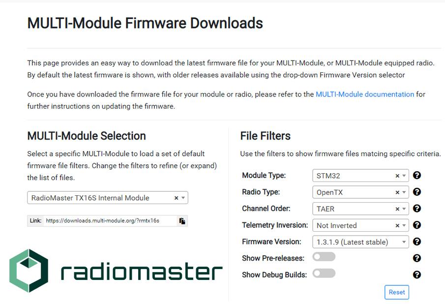 Download the MULTI-Module firmware